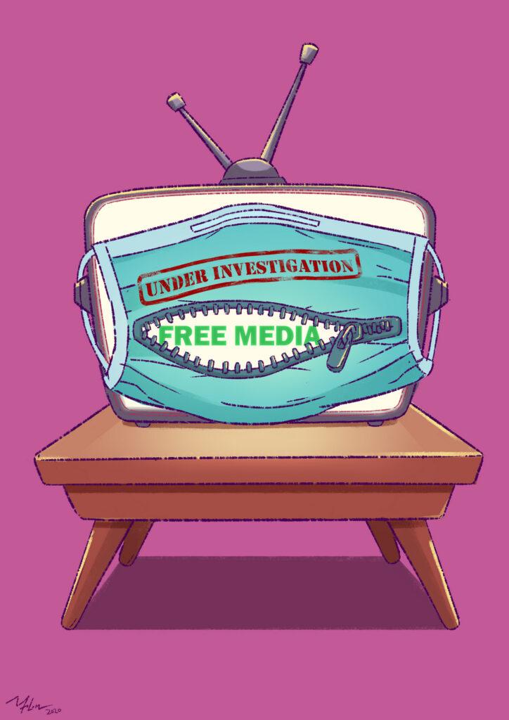 """Walaupun kita adalah negara demokratik, media sering dihalang dan dikendalikan oleh politik. Banyak fakta yang tidak memenuhi kepentingan politik """"disembunyikan"""", dan pekerjaan dan kehidupan pekerja media diancam oleh undang-undang seperti Akta Komunikasi & Multimedia 1998 dan Akta Hasutan 1948. Contohnya, penyiar seperti Astro, Unifi TV diserbu sebagai sebahagian daripada siasatan yang sedang berlangsung di dokumentari Al Jazeera yang bertajuk """"Locked Up in Malaysia's Lockdown""""."""